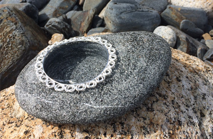 Beach rock, sterling silver