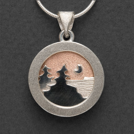 Shoreline pendant with Moonscape