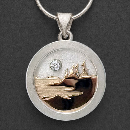 Photo - Two tone Pendant with 10 pt. Diamond