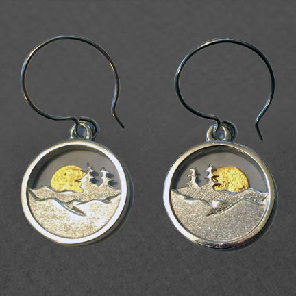 Photo - Earrings with 24K Gold Sun