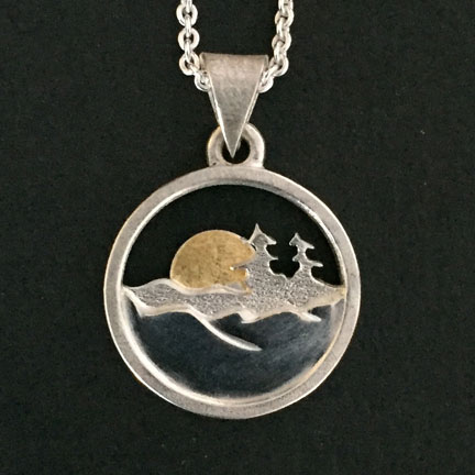 Photo - Pendant with 24K Gold Sun