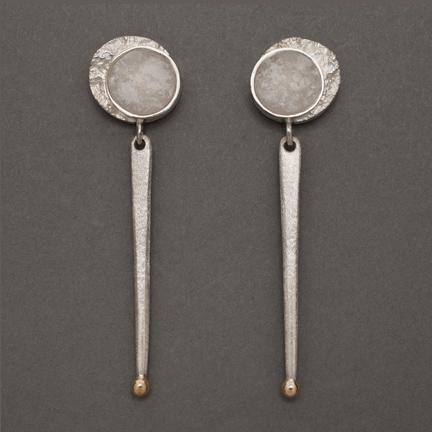 Frozen Moon/Sun Earrings