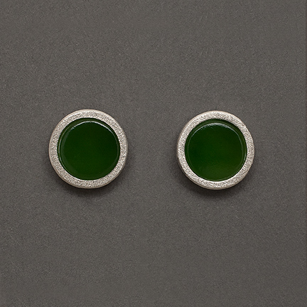 Jade Earrings Stud