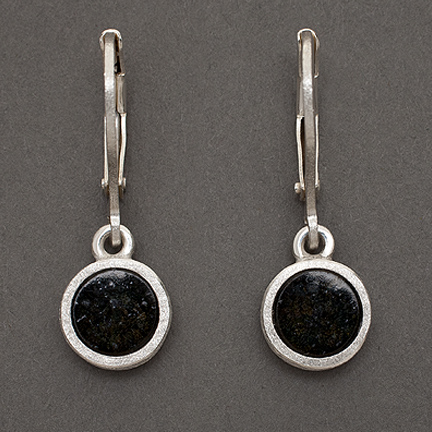 Black Serpentine Drop Earrings