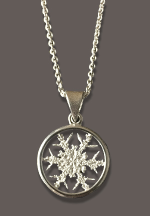 Snowflakes Pendant with chain