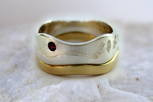 Photo: Custom variation of the Aurora Landscape ring