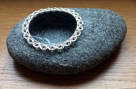 Beach rock, sterling silver