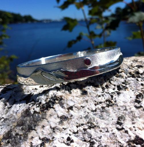 Graphic - Sterling Silver Landscape bracelet