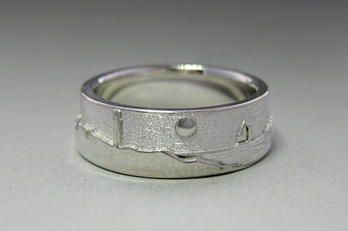 bands wedding band gray and high tungsten dome metal rings gun a polish vantani interior collections