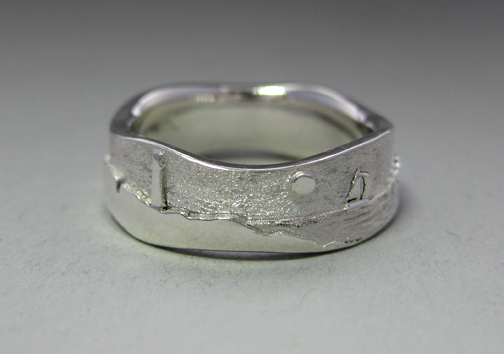 Photo - Custom variation -Wavy Lighthouse ring