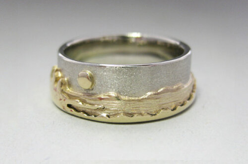Photo - Landscape rings: Two-tone Shoreline ring