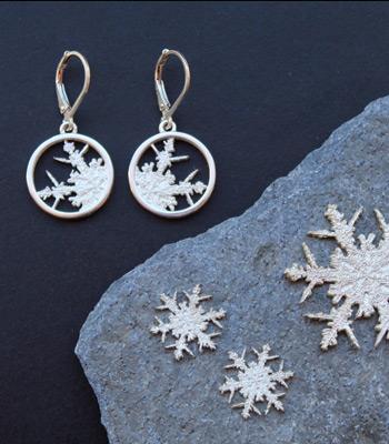 Snowflake Earrings - sterling silver