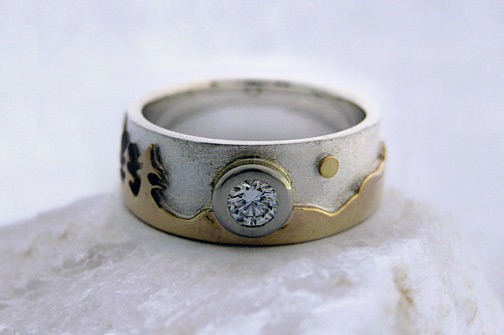 Photo: Custom variation of the Treeline Landscape ring