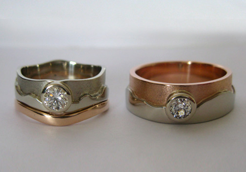 Photo - Custom variation: Two-tone Tundra rings